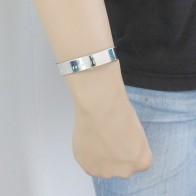 Stalen armband met tekst