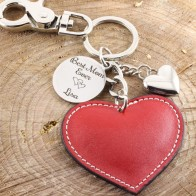 Sleutelhanger hart met fotogravure