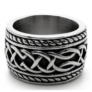 Brede edelstalen ring
